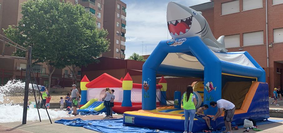 Castillo Hinchable Alquiler Tiburon 2
